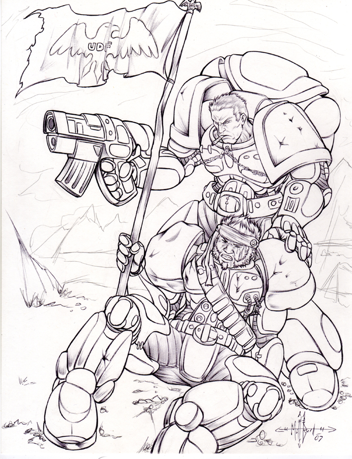 Space Marine Stuff WIP by gunmouth