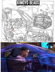 Black Panther Shuri driver 2015 by apexabyss