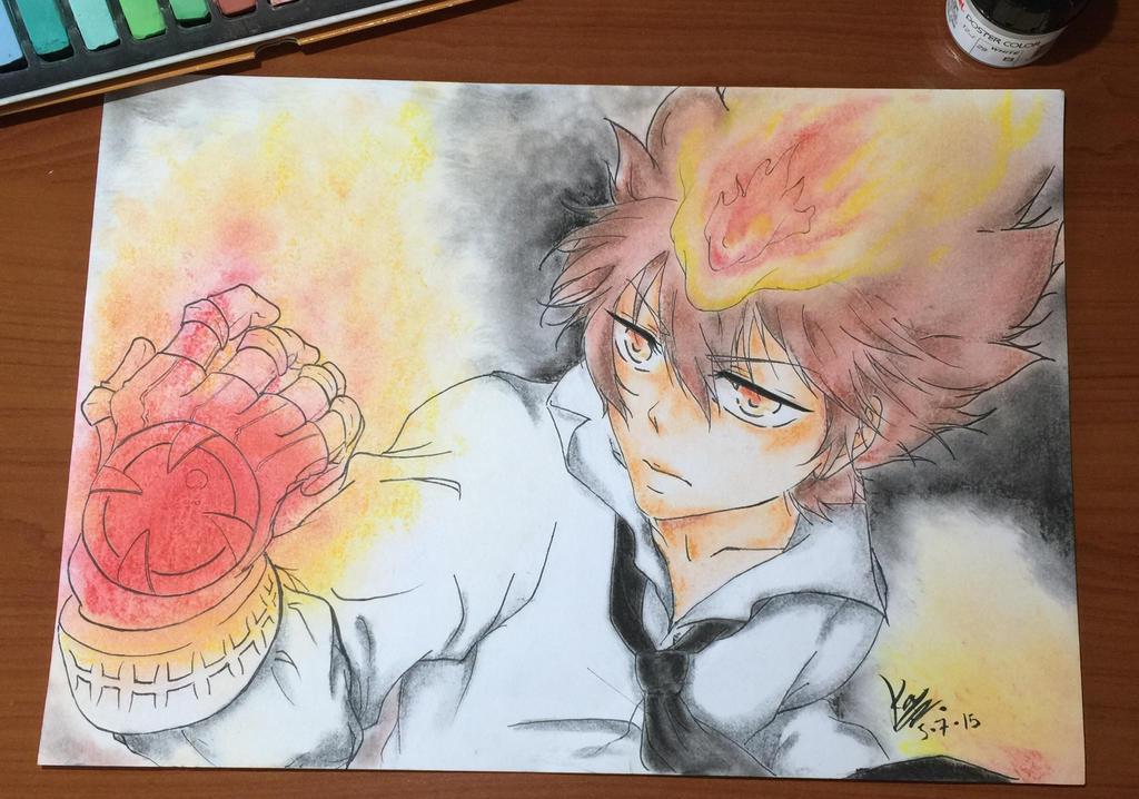 Katekyo Hitman Reborn - Tsunayoshi Sawada by EleganceOfArt