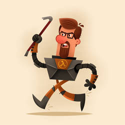 Gordon Freeman by stickerama