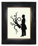 Victorian gentleman with top hat octopus tentacles