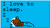I love to sleep stamp by Mini-Wolfsbane