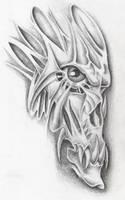 demon skull by markfellows