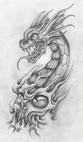 dragon with skull 2