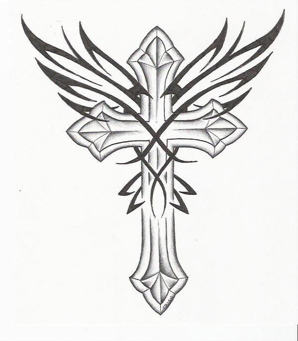Cross W Wings By Markfellows On DeviantArt