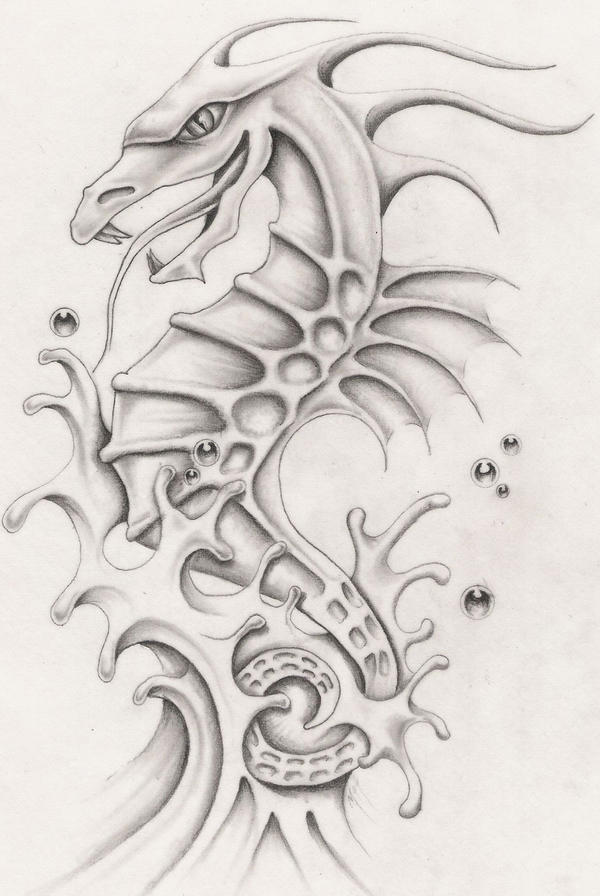 Sea dragon by markfellows on deviantart for Sea dragon tattoo