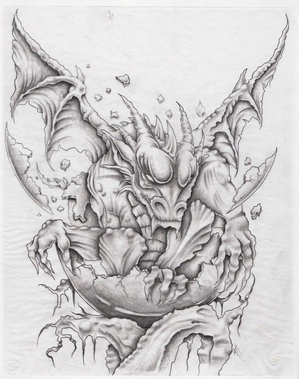 Pin cute baby dragon tattoo on pinterest for Dragon tattoo drawings