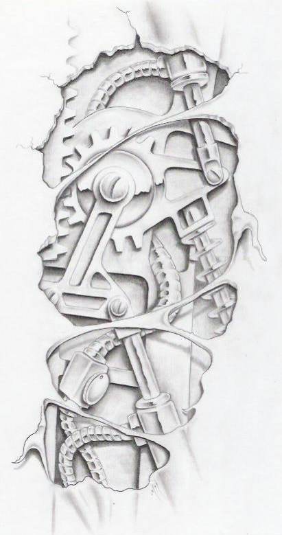 biomechanical graphite by markfellowsBiomechanical Gears Drawings