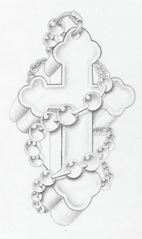 Cross w rosary by markfellows on deviantart for Cross and rosary tattoo