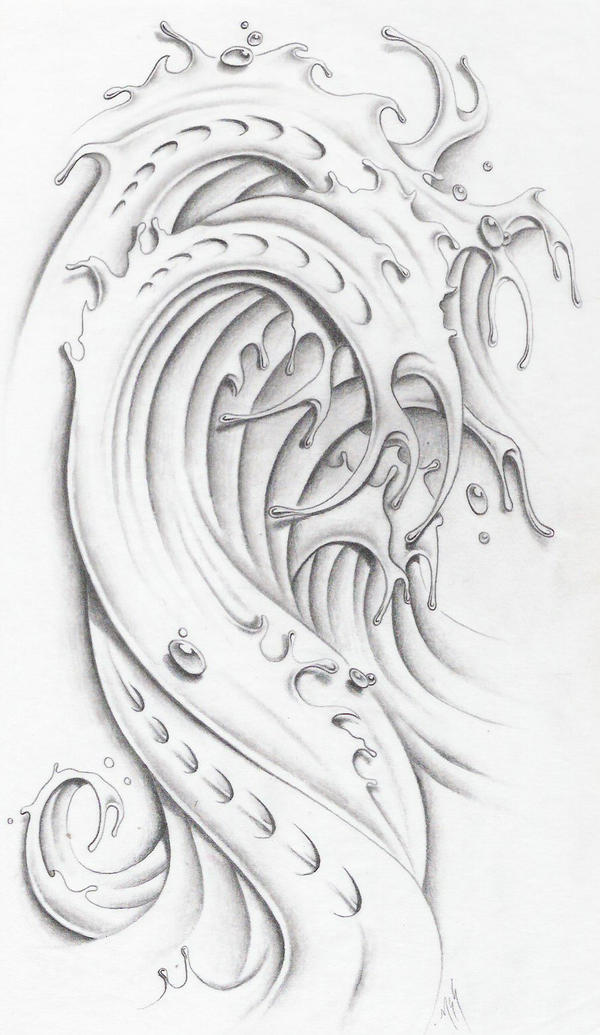 Water wave ii by markfellows on deviantart for Water tattoo designs