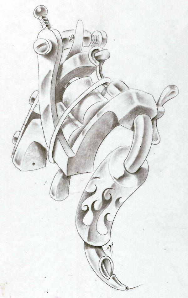 Tattoo guns by SrokaZlodziejka on DeviantArt  |Tattoo Gun Drawing
