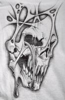 crying skull t shirt by markfellows