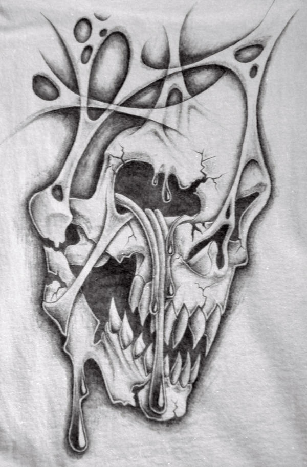 Crying Skull T Shirt By Markfellows On DeviantArt