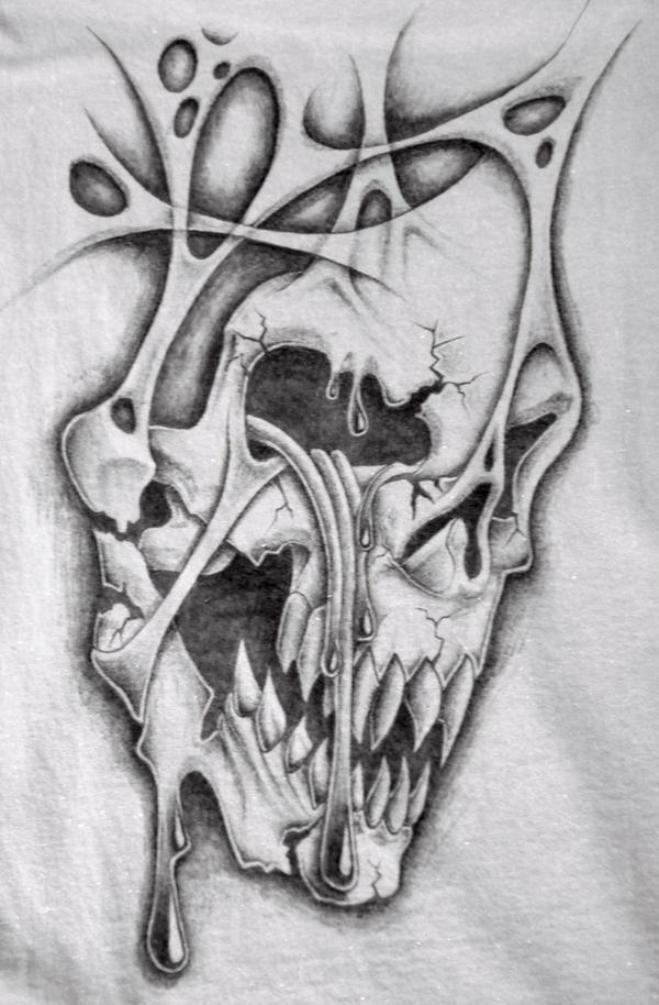 crying skull t shirt by markfellows on DeviantArt
