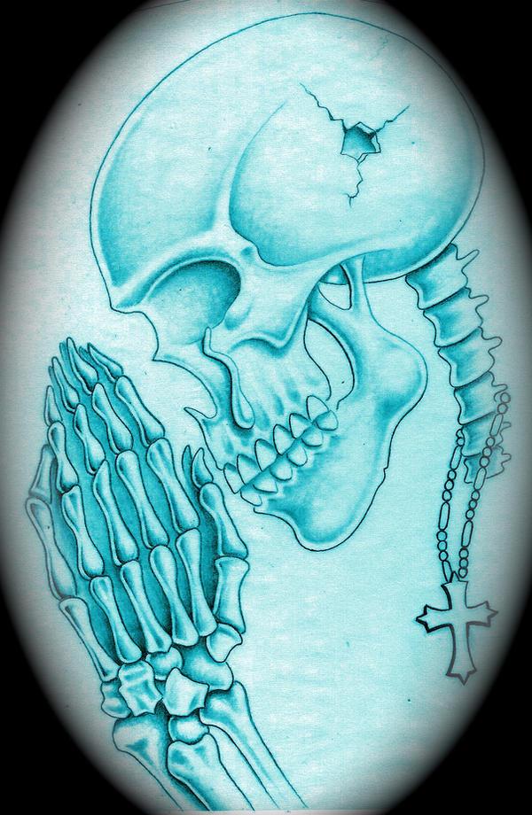Praying Skull Tattoo