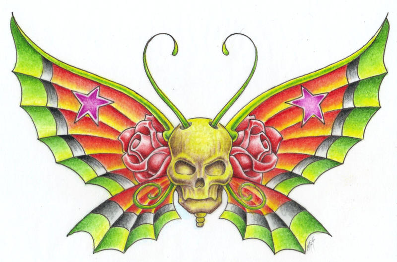 skull butterfly by markfellows