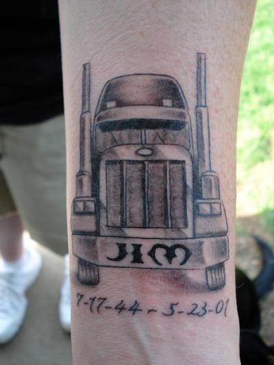 Semi Truck Tattoos Semi Truck