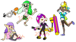 Splatoon Inklings and Octolings - [OPEN] by GalesEpicenter