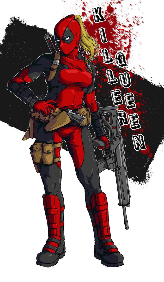 Lady Deadpool by m3ru