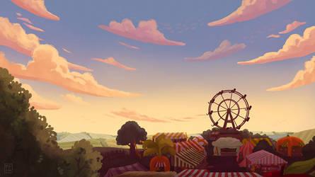 Sunset fair by MargoDraws