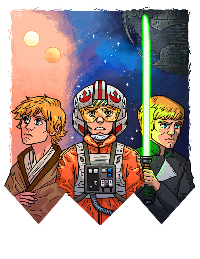 Three faces of Luke by MargoDraws