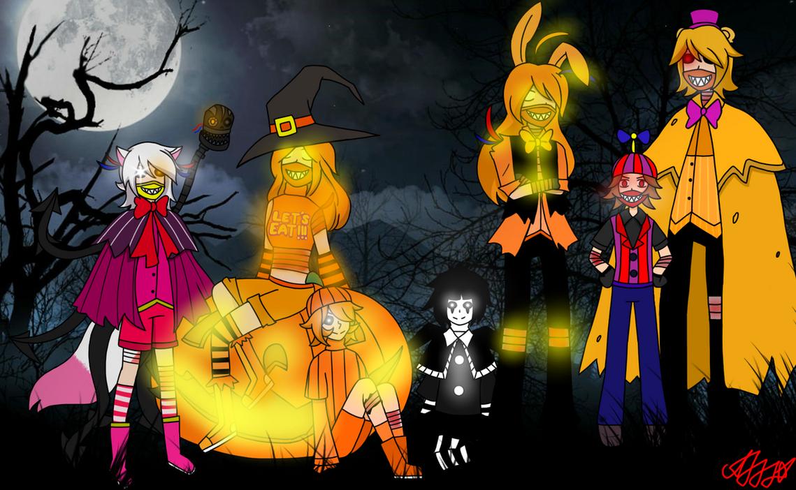 Halloween with FNAF4 by GoldMaster-87 on DeviantArt