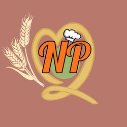 Natural Pasta Logo (Sml.) [red-warm bg] by optimismeBoo