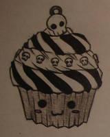 skull's cupcake by xxch0pstixx