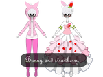 Request! | CheeseCakePeach Bunnys and Strawberries