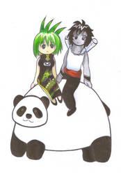 Panda Ride by Lilaaku