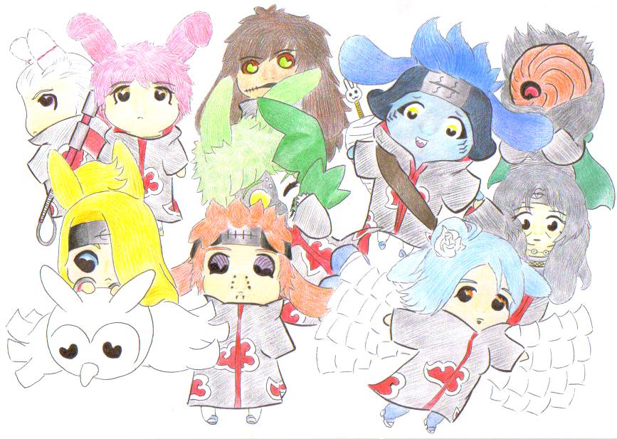 Aka:  Akatsuki Bunnies :D by Lilaaku