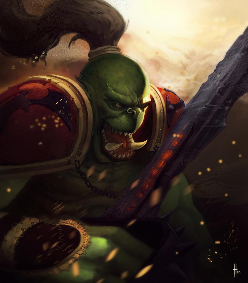 Ork !! kinda wow fan art by yohan-haash
