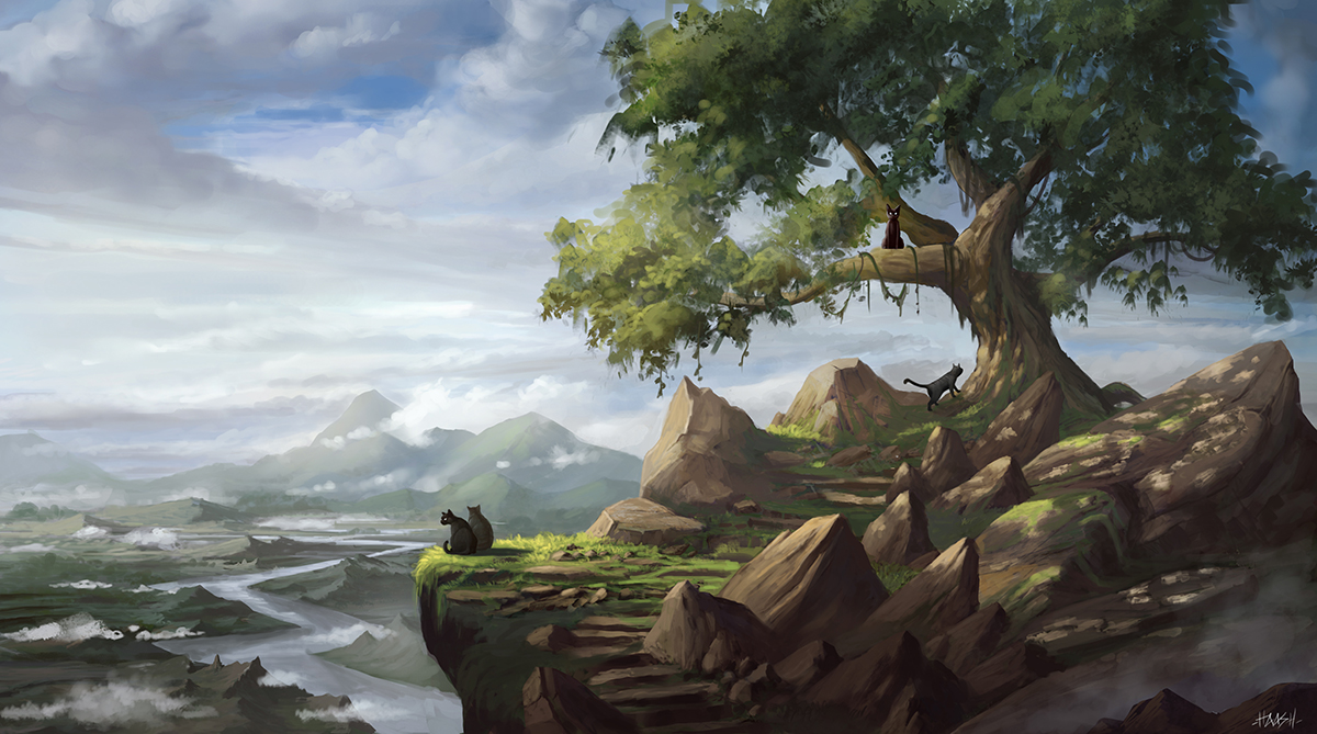 cats peak by yohan-haash
