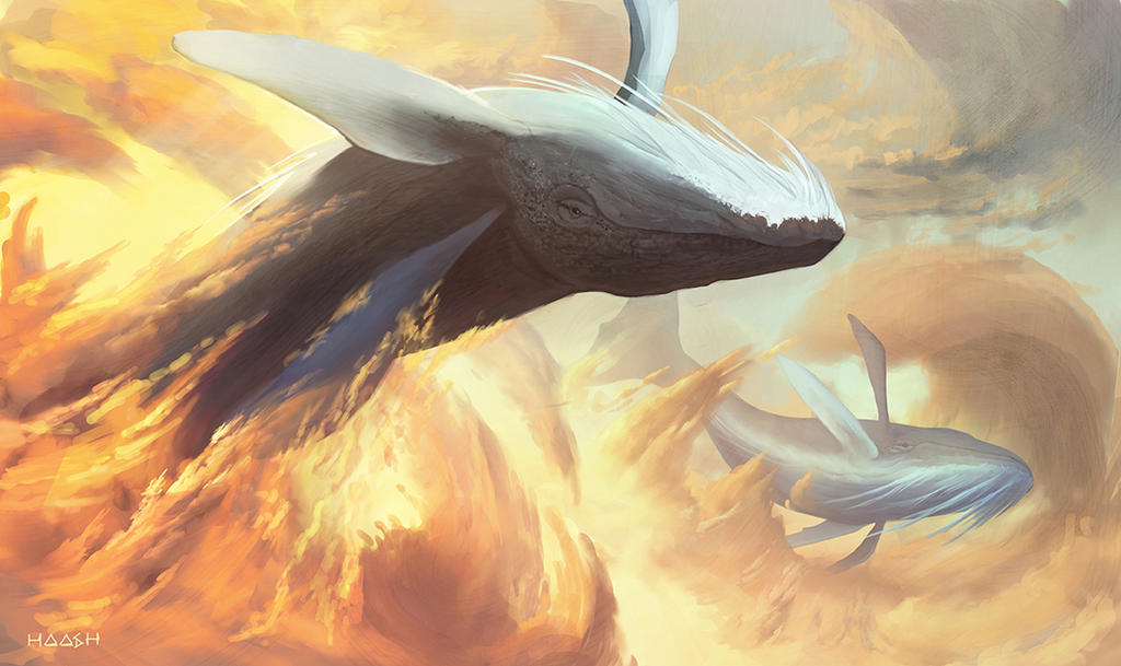 flying whales by yohan-haash