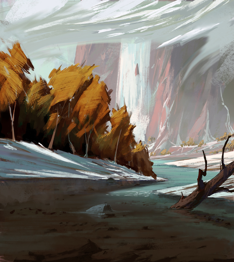 river mountain by yohan-haash