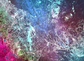 EVA BAXTER DESIGNS - PINKY BLUE GRUNGE TEXTURE