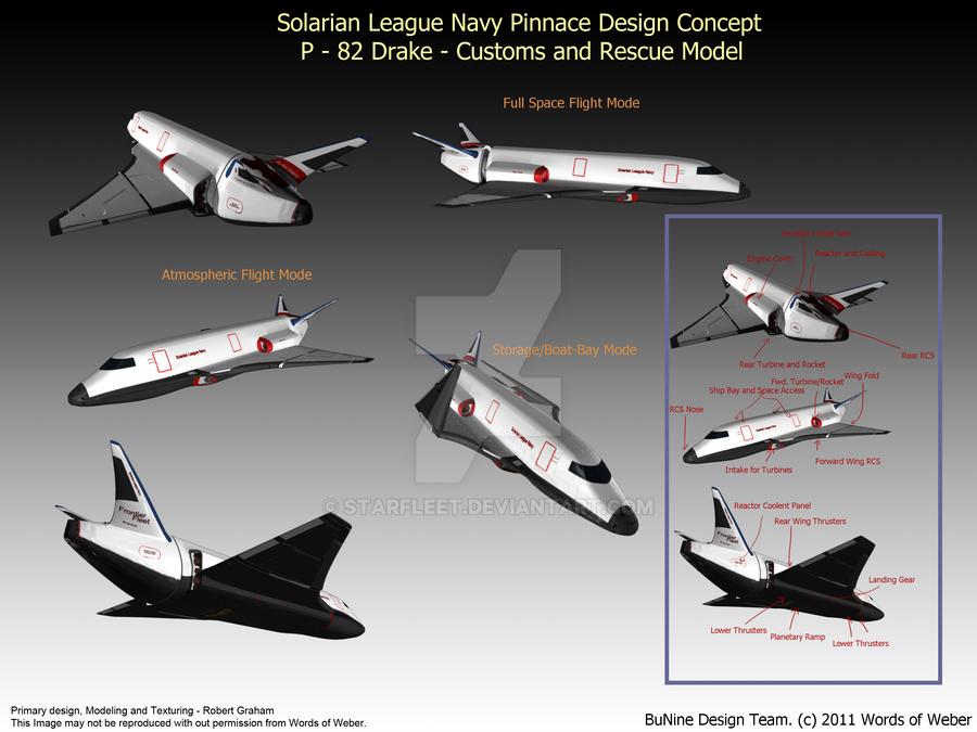 S.L.N Drake Pinnace by starfleet