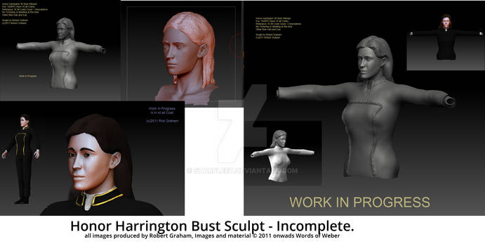 Honor Harrington Bust Sculpt