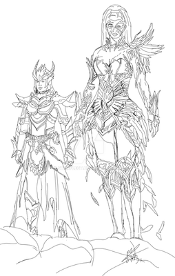 Welvariam and Sera Guild Wars 2 Characters