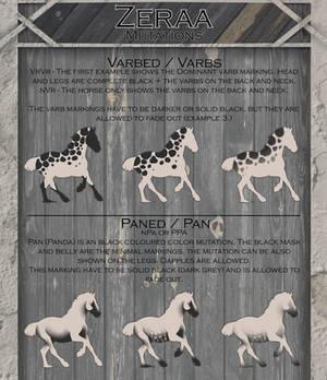 .:   Zeraa Mutation Sheet   :.
