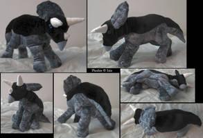 Triceratops-plushie by IsisMasshiro