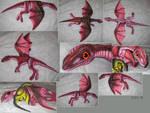 Finished plushie dragon