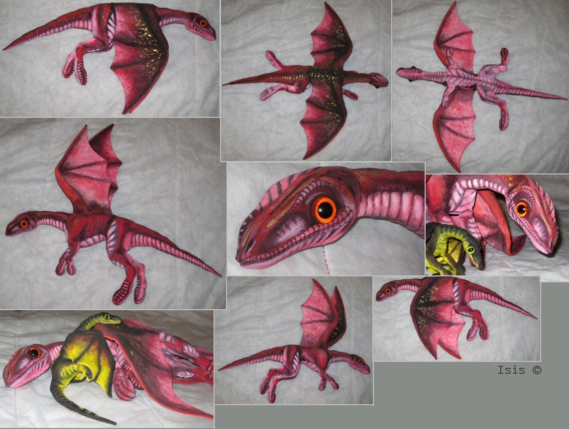 Finished plushie dragon by IsisMasshiro