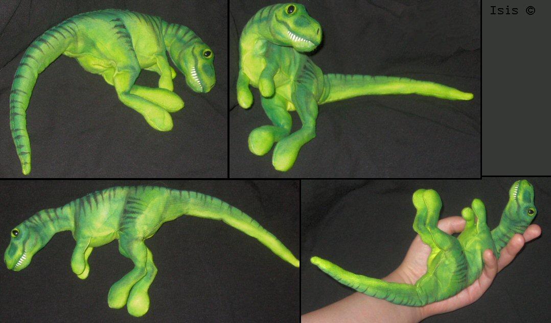 Beanbag t-rex by IsisMasshiro