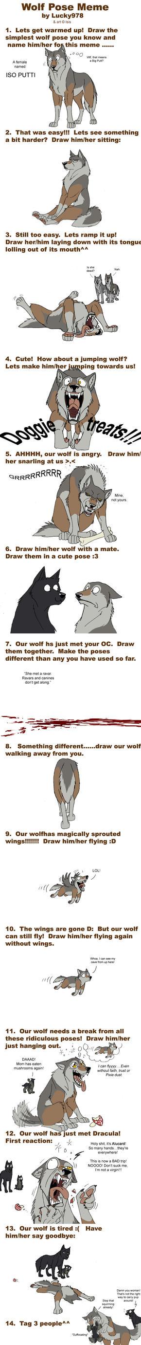Wolf pose meme by IsisMasshiro