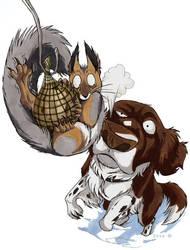 Screwed squirrel by IsisMasshiro