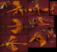 Firedragon-plushie by IsisMasshiro