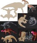 Parasaur-plushies + patterns