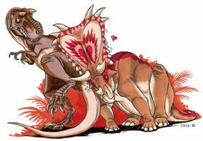 Drunken mojoceratops by IsisMasshiro