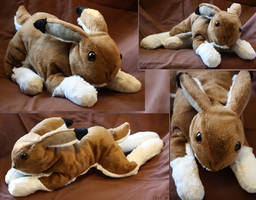 Mountain hare - plushie by IsisMasshiro
